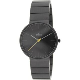 Braun Men's BN0171BKBKG Charcoal Grey Stainless Steel Quartz Watch