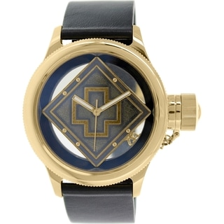 Invicta Men's Russian Diver 14775 Black Leather Swiss Quartz Watch
