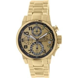 Invicta Women's I-Force 17424 Goldtone Stainless Steel Analog Quartz Watch