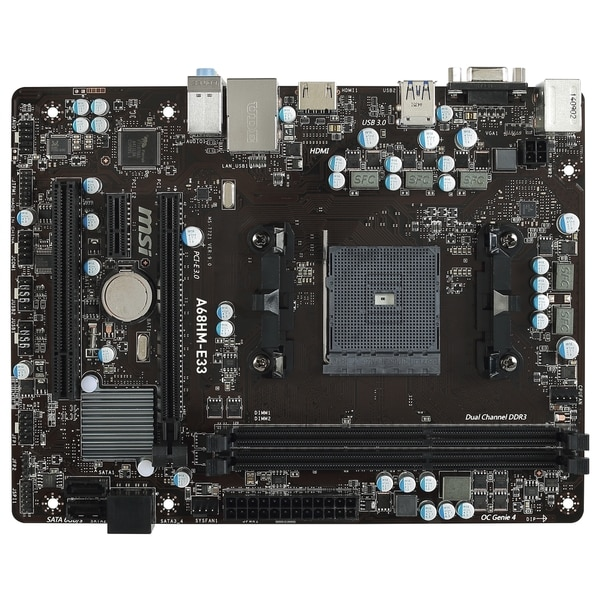 MSI A68HM-E33 Desktop Motherboard - AMD A68 Chipset - Socket FM2+