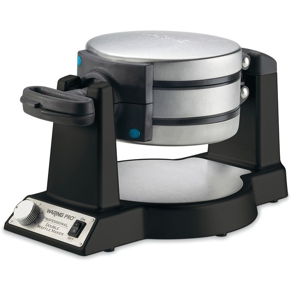 Waring Pro WWM1200SA Double Belgian-Waffle Maker, Black (Refurbished)
