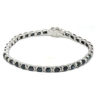 De Buman Sterling Silver Natural Sapphire Bracelet