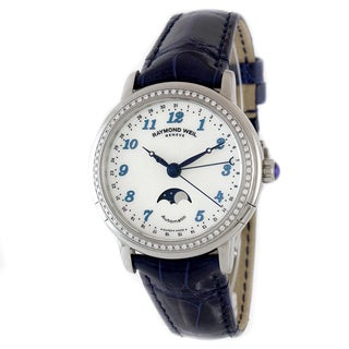 "Raymond Weil Women's 2739-LS3-05909 ""Maestro"" Analog Display Swiss Automatic Blue Watch"