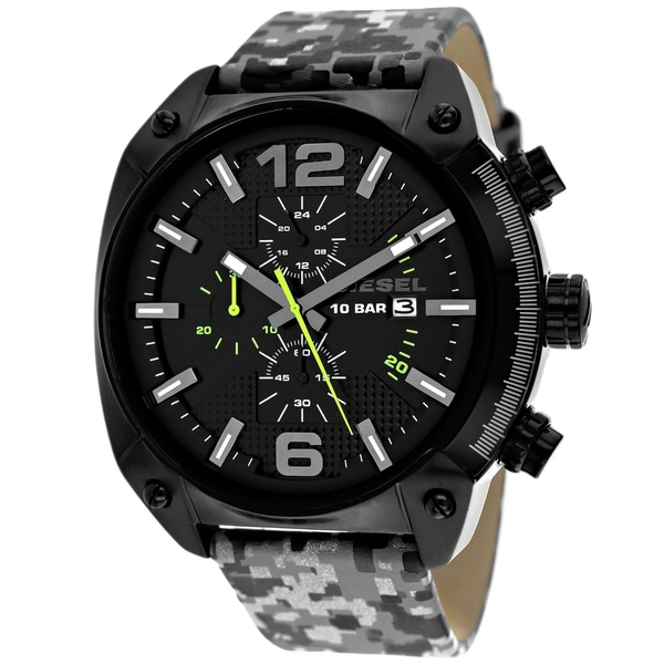 Diesel Men's DZ4324 Overflow Round Camouflage Strap Watch