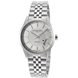 Raymond Weil Men's 2770-ST-65021 'Freelancer' Automatic Silver Textured Dial Stainless Steel Watch