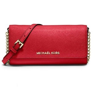 MICHAEL Michael Kors Jet Set Travel On a Chain Leather Wallet