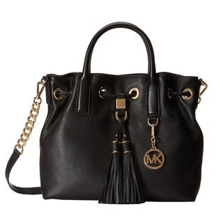 Michael Kors Camden Top-Handle Black Leather Satchel Handbag