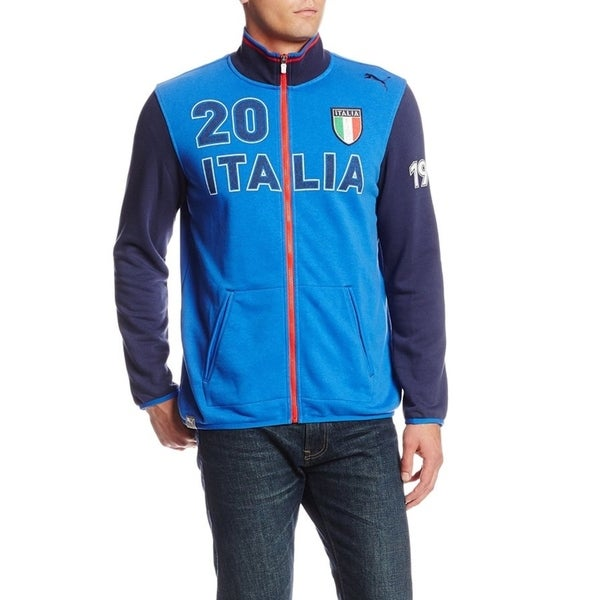 PUMA Men's Blue Italia Zip Track Jacket