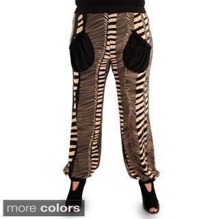 Woman's Plus-size Printed Dress Pants