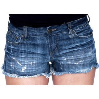 Juniors' Metallic Shorts