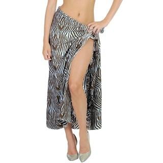 La Leela Likre Zebra Printed Brown Wrap Sarong