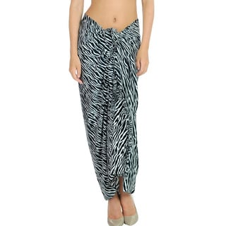 La Leela Cover up Beachwear Swimsuit Dress Sarong Hawaii Wrap Skirt Slit Abstract Women