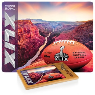 Super Bowl 49 'Icon' Tempered Glass Cutting Board and Knife Set