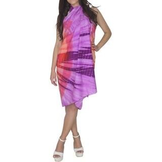 La Leela Women's Tie Dye Sarong Beach Cover-up Pareo Wrap