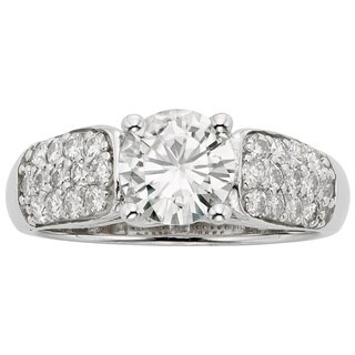 Charles and Colvard 14K Forever Brillant Moissanite Fashion Ring 1.72DEW