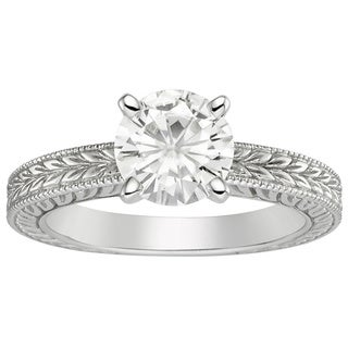 Charles and Colvard 14K Forever Brillant Moissanite Bridal Ring 1.5DEW