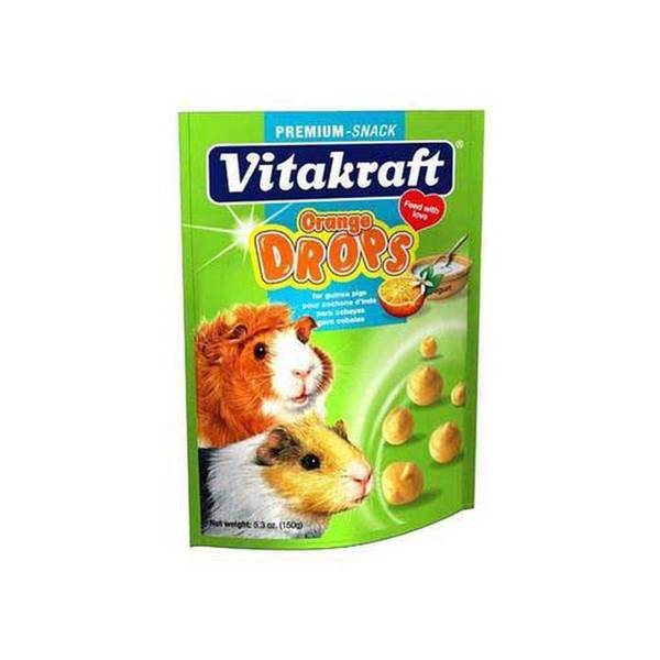 Vitakraft Guinea Pig Drops 5.3Oz Pouch Orange