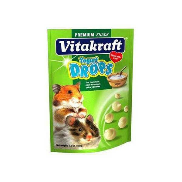 Vitakraft Hamster Drops 5.3Oz Pouch Yogurt