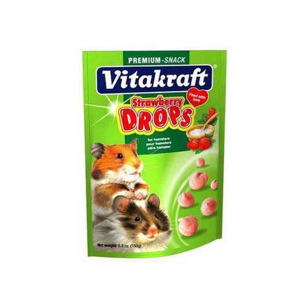 Vitakraft Hamster Drops 5.3Oz Pouch Strawberry