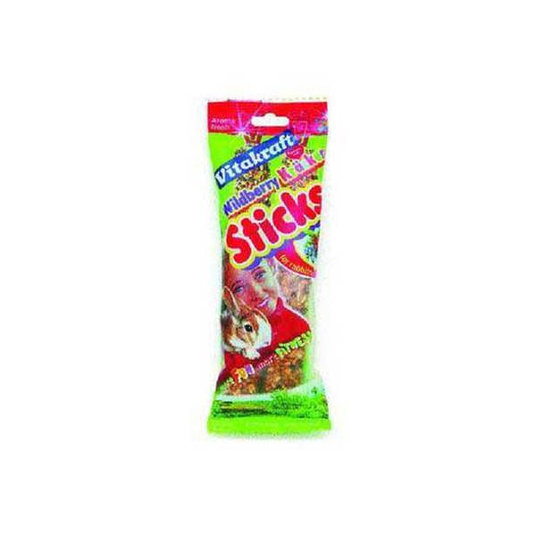 Vitakraft Rabbit Berry Stix 2Pk See - Through Packaging