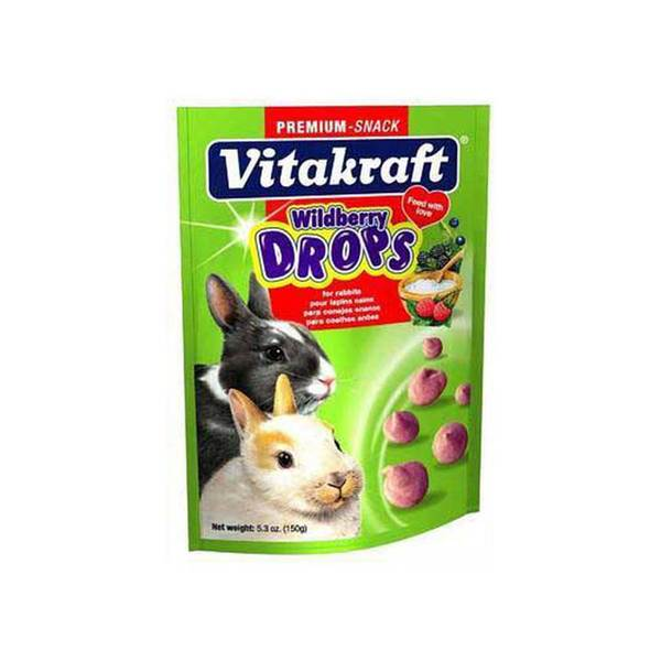 Vitakraft Rabbit Drops 5.3Oz Pouch Wildberry