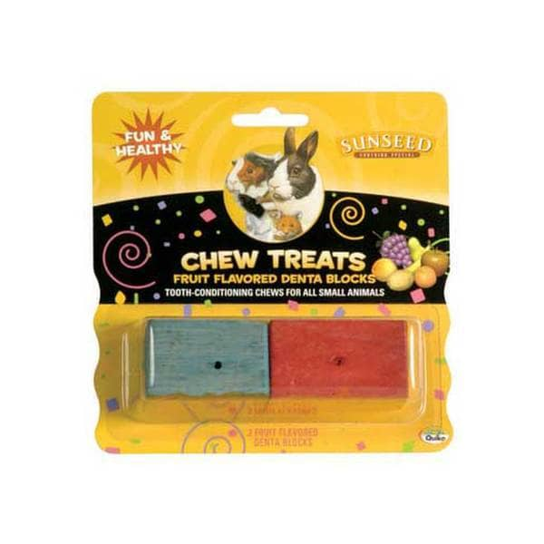 Sun Seed Company Chew Treats - Denta Blocks For Small Animals