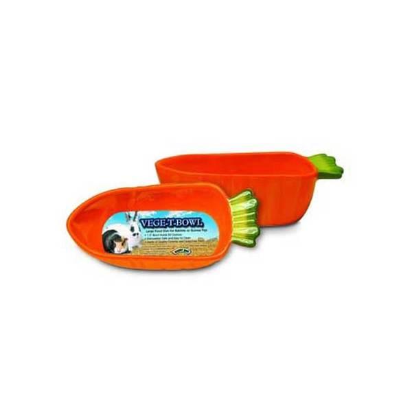 Superpet (Pets International) Spet Vege T Bowls Large Orange Carrot Shape