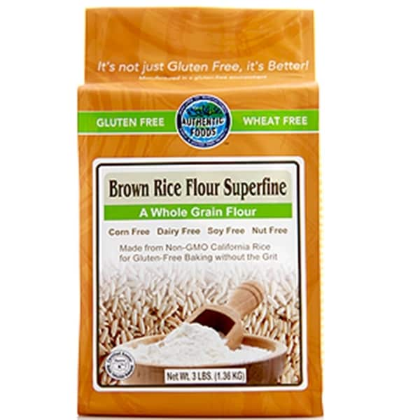 Authentic Foods Superfine Brown Rice Flour (2 Pack)