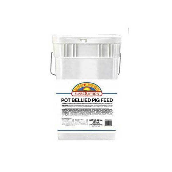 Sun Seed Company Pot Bellied Pig Food 20Lb (Tub)