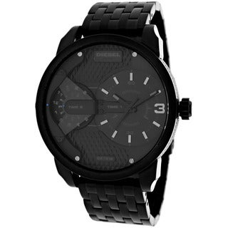 Diesel Men's DZ7316 Mini Daddy Round Black Bracelet Watch