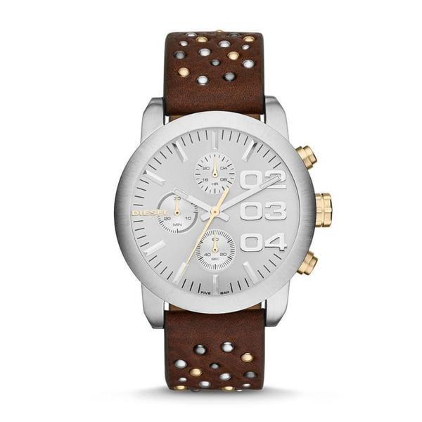 Diesel Women's DZ5433 Flare Chronograph Studded Leather Watch
