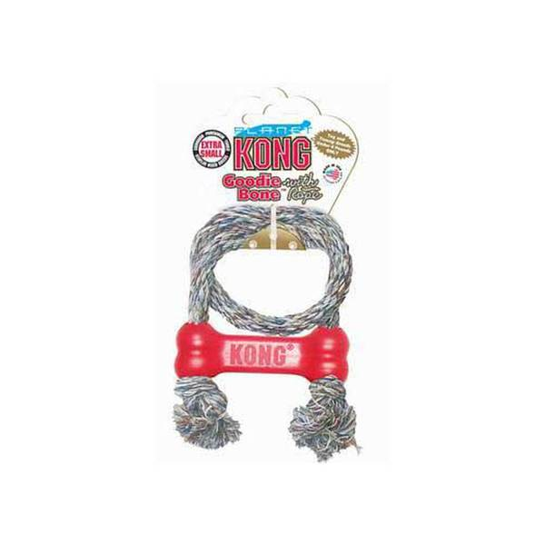 Kong Company Puppy Goodie Bone With Rope Extra Small