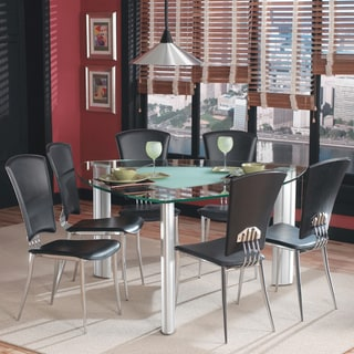 Tina Triangular Frosted Glass Dining Table