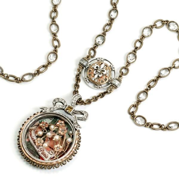 Sweet Romance Souvenir de Paris Shadow Box Necklace