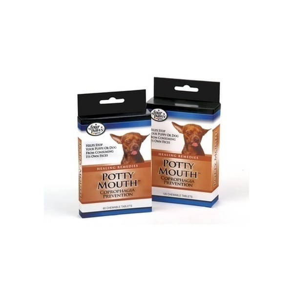 Four Paws Pet Products Potty Mouth Coprophagia Prevention 60Ct