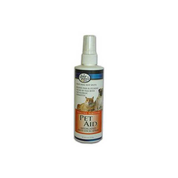 Four Paws Pet Products Pet Aid Medicated Anti Itch Spray 8Oz