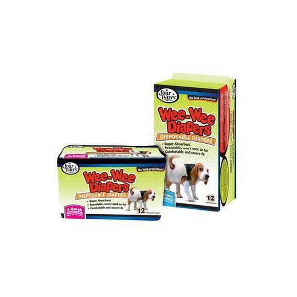 Four Paws Pet Products Wee Wee Disposable Doggie Diapers X - Small