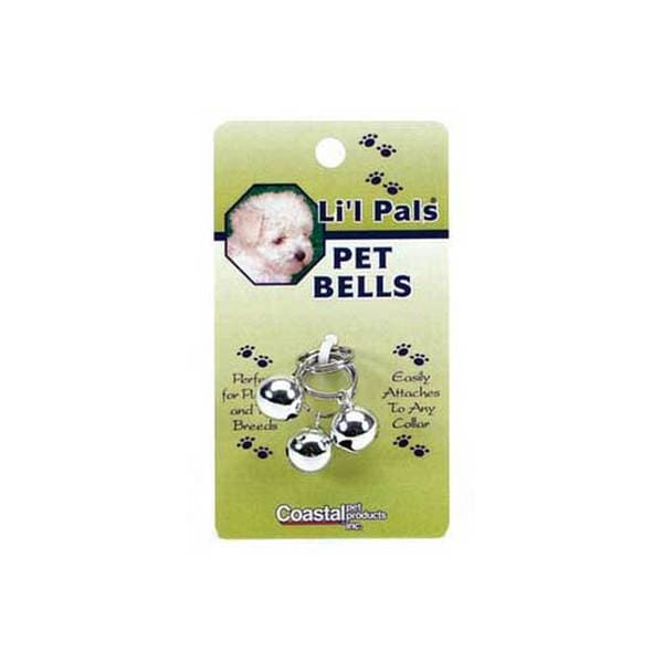 Coastal Pet Products Li'L Pals Silver Pet Bells 3Cd