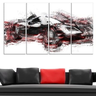 Modern Super Car' Gallery-wrapped Canvas