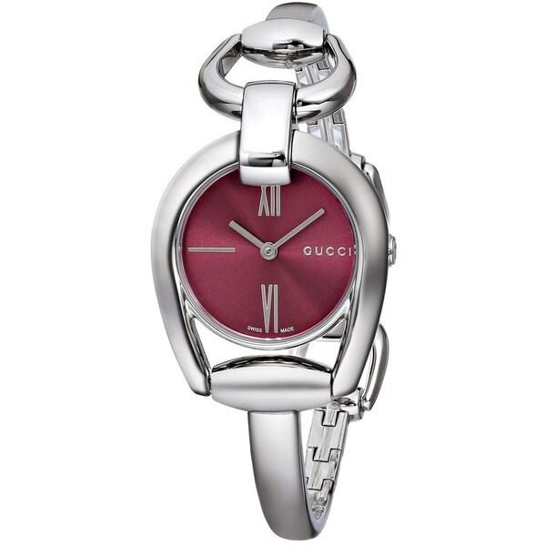 Gucci Women's YA139502 'Horsebit' Swiss Quartz Stainless Steel Bangle Watch