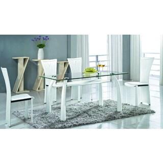 Somette Regan Glass Rectangular Dining Table