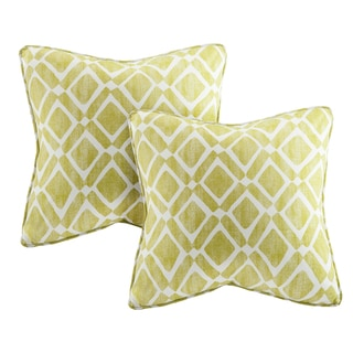 Madison Park Ella Printed Green 20-inch Pillows (Set of 2)