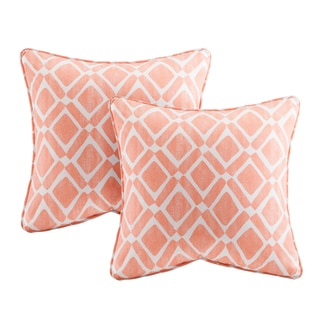 Madison Park Ella Printed Orange 20-inch Pillows (Set of 2)