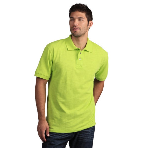 Nostic Men's Lime Green Slub Golf Polo Shirt in Size Small (As Is Item)