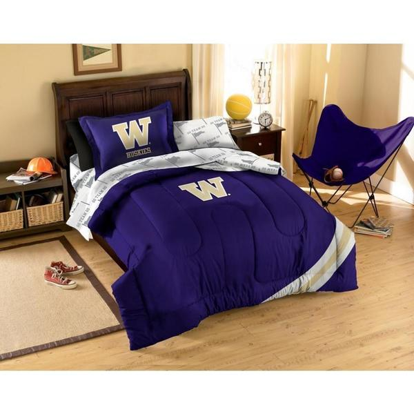 University of Washington Huskies 6-piece Bed in a Bag Set - Size Twin (As Is Item)