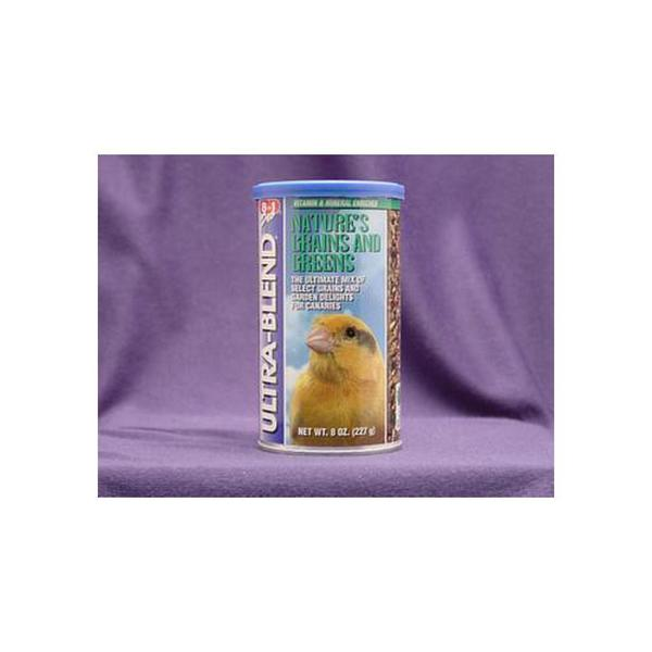 8 In 1 Pet Products Canary/Finch Ecotrition Grains & Greens 8Oz