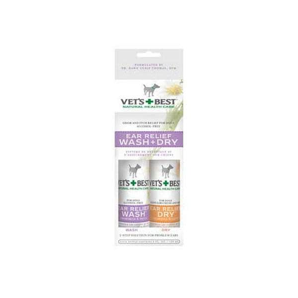 Bramton Company Vets Best Ear Relief Wash Dry 2 - Pack