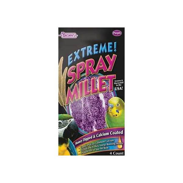 Fm Browns Purple Millet Spray Calcium & Honey Dipped 4Oz