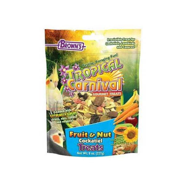 Fm Browns Tropical Carnival Fruit & Nut Cockatiel Treat 8Oz