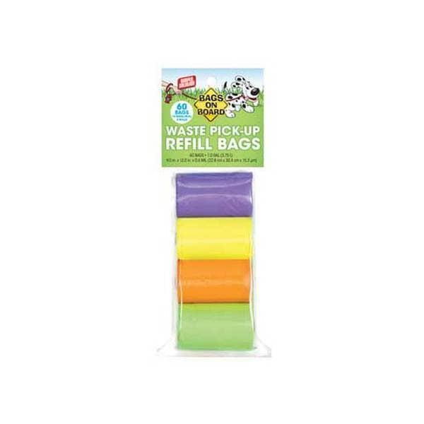 Bramton Company Bags On Board Rainbow Bag Refill Pack 4 Roll 60Bag